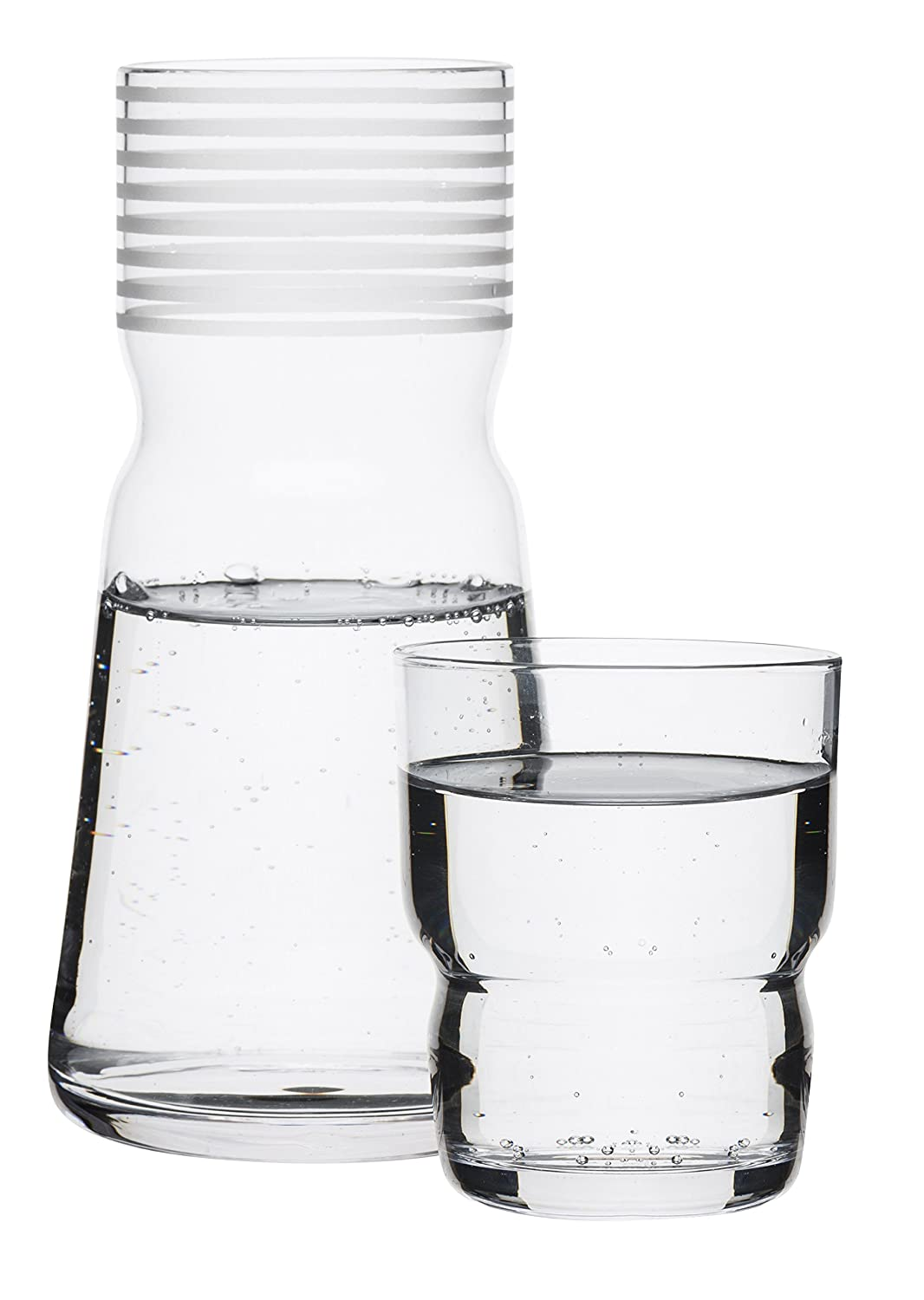 Sagaform Glass carafe with drinking glass