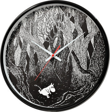 Moomin wall clock Moomin in the forest