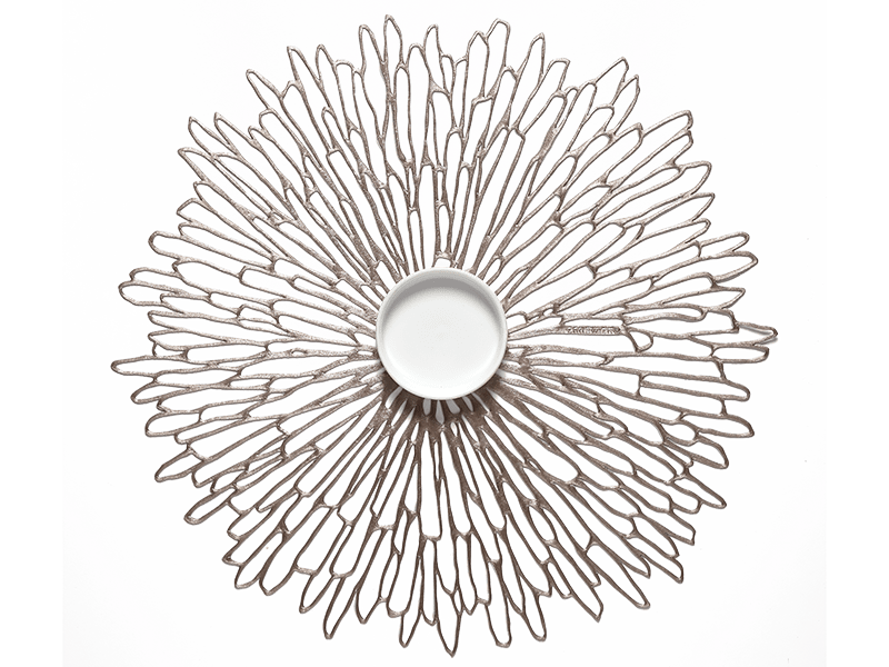 Chilewich Placemat  Round Bloom