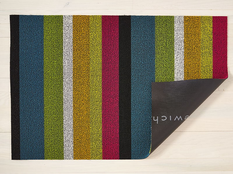 Chilewich Bold Stripe Shag Mat in Multi