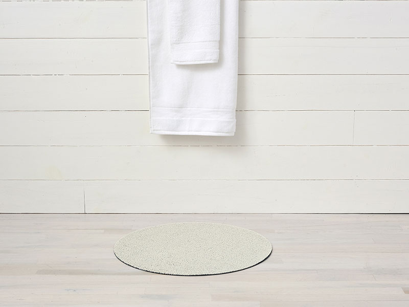 Chilewich Dot Shag Mat in White (Round)