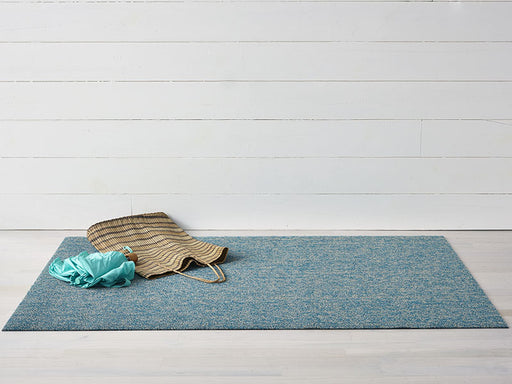 Chilewich Heathered Shag Mat in Aqua