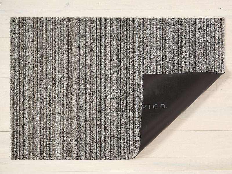Chilewich Skinny Stripe Shag Mat in Birch