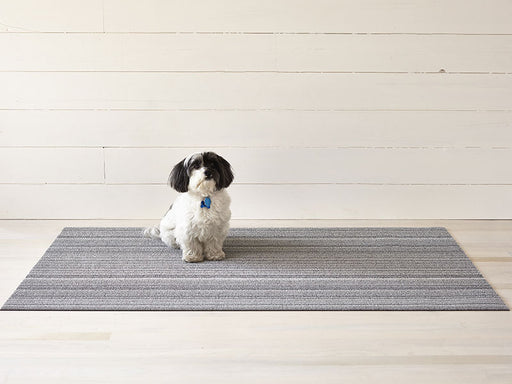 Chilewich Skinny Stripe Shag Mat in Shadow