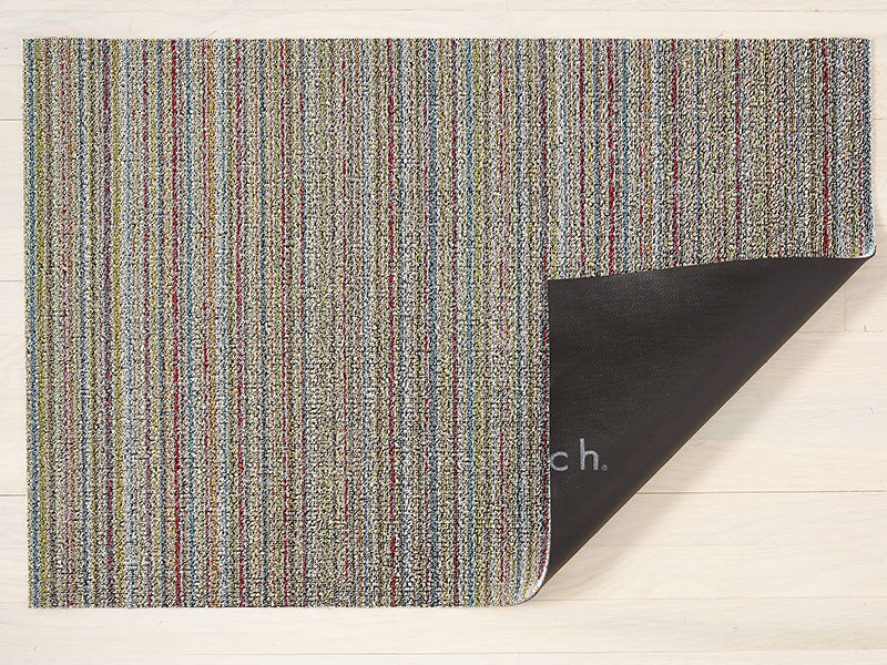 Chilewich Skinny Stripe Shag Mat in Soft Multi