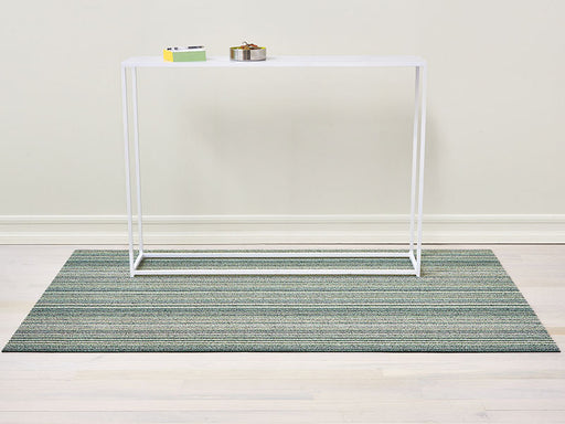 Chilewich Skinny Stripe Shag Mat in Spearmint