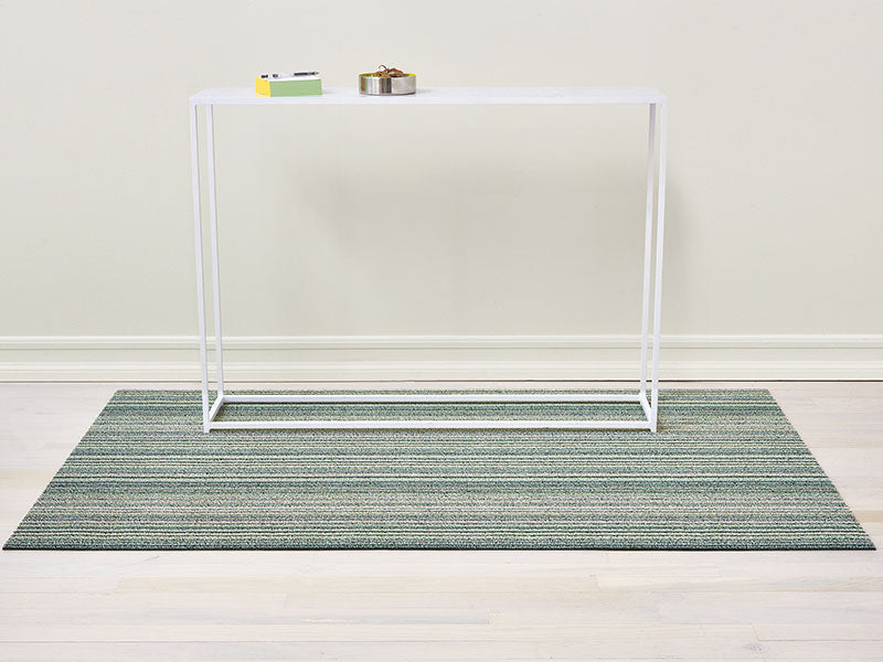 *Chilewich Skinny Stripe Shag Mat in Spearmint