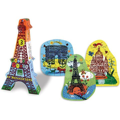 Eiffel tower 3 puzzles