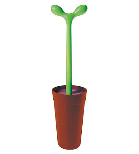 Alessi Toilet brush - Merdolino brown