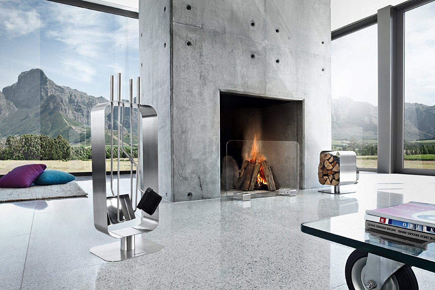 Blomus Stainless Fireplace Tool Set - 3 Pc.