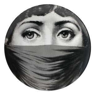 Fornasetti plate Theme & Variations series no 091