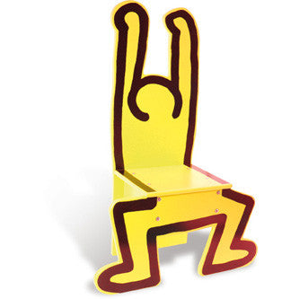 Keith Haring Chair -Yellow