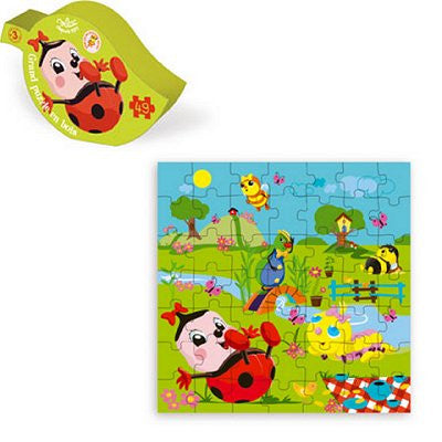 Funny little bugs wood puzzle