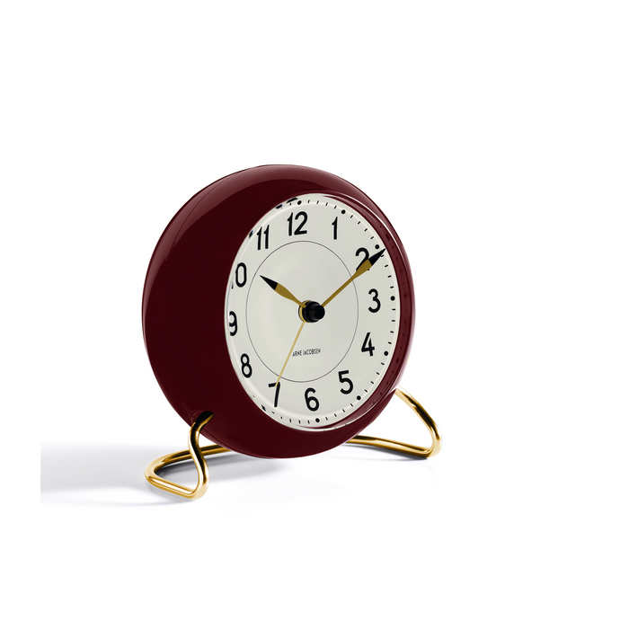 Arne Jacobsen Station Alarm Clock, Red