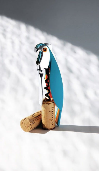 Parrot corkscrew blue