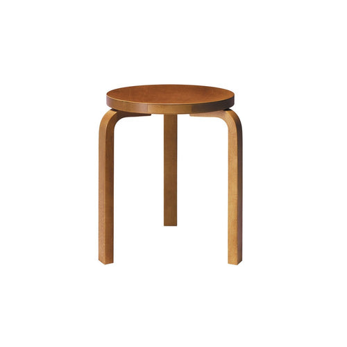 Artek Alvar Aalto stool 60 Birch honey coloured