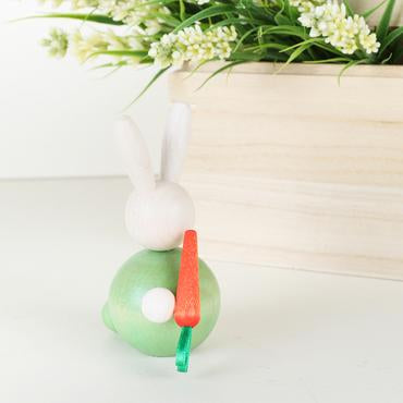 Aarikka 8.5cm Jänö table decoration Rabbit with carrot