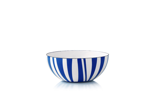 Cathrineholm enamel bowl 14cm stripes blue