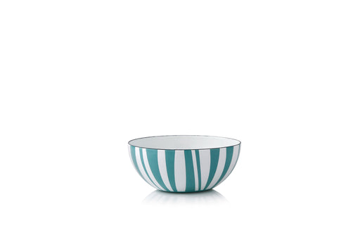 Cathrineholm enamel bowl 10cm stripes moss green