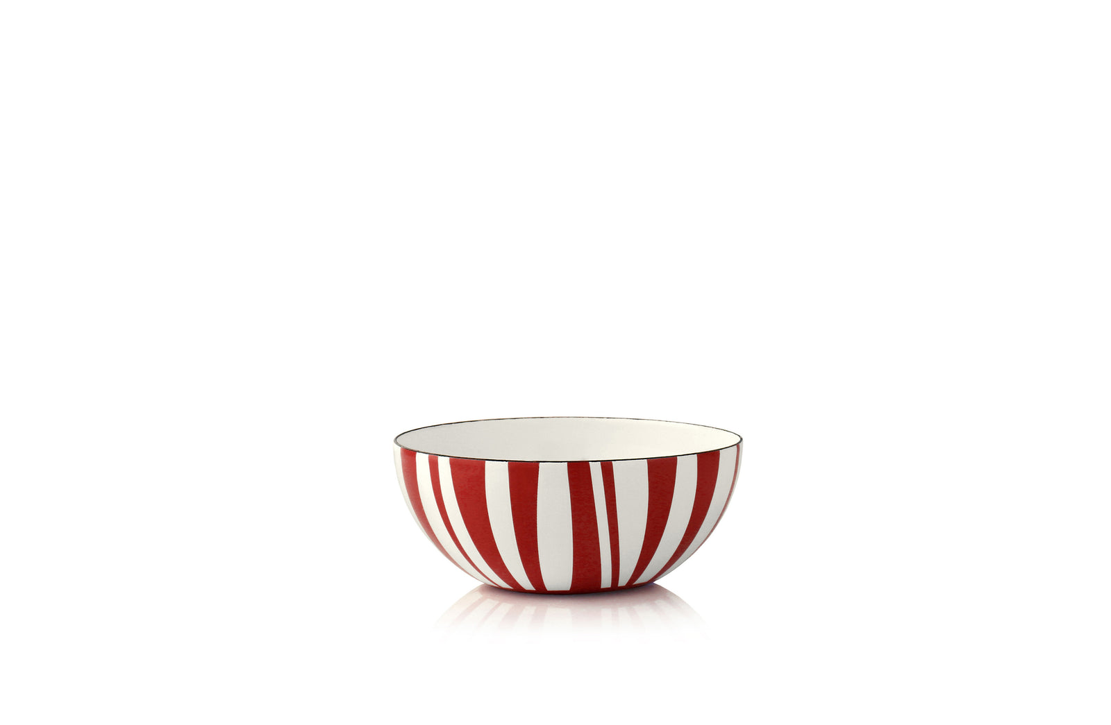 Cathrineholm enamel bowl 10cm stripes red