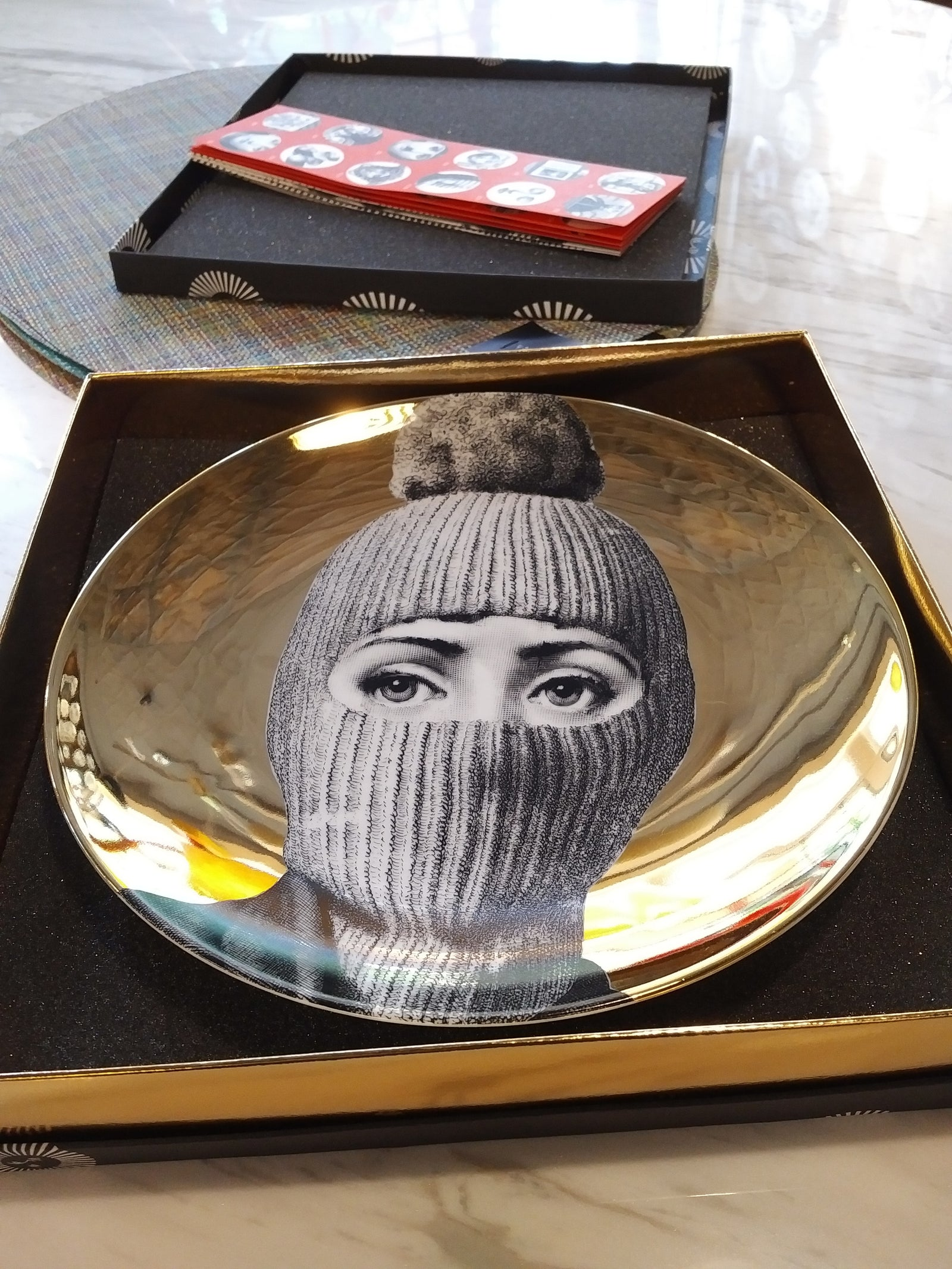 Fornasetti Plate Gold (please add note with plate number)