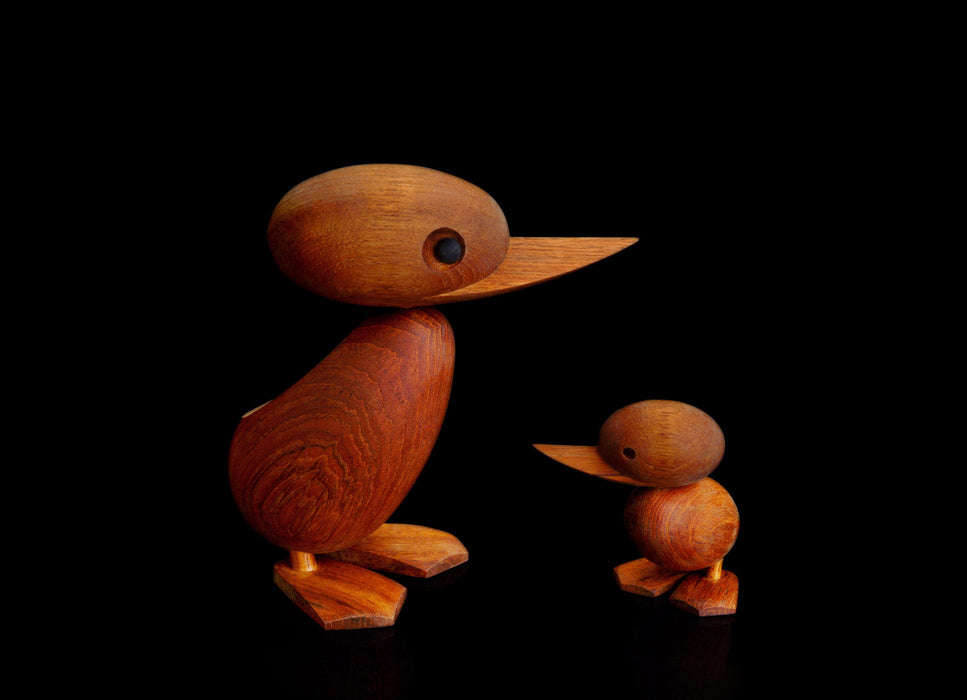 Teak ducks by Hans Bølling