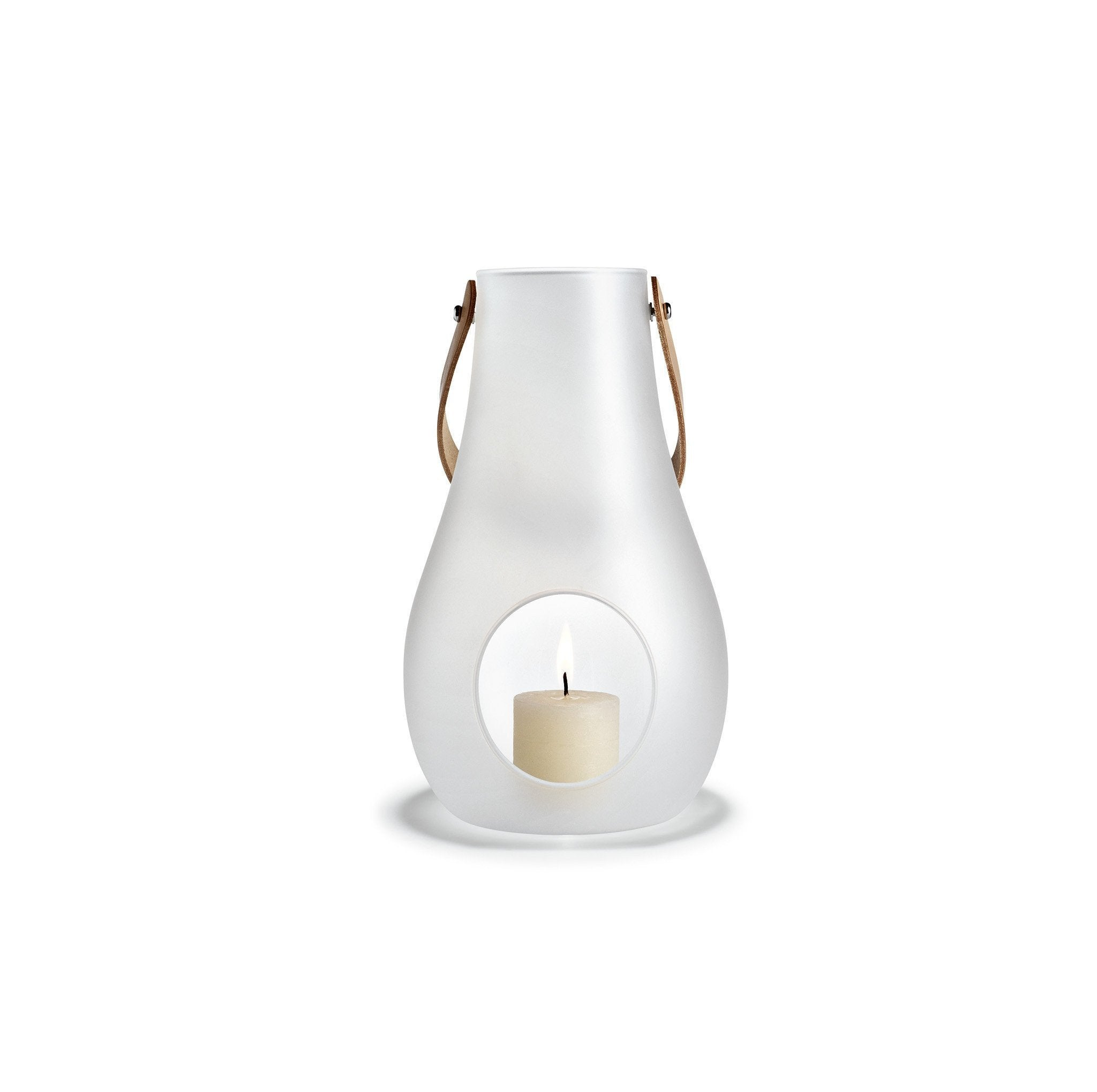 "Design with Light Frosted Lantern, 9.8"" 24cm"