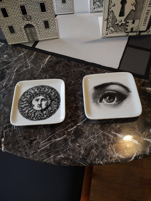 Fornasetti square dish with eye