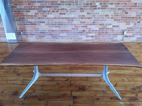 Walnut live edge custom Dining table 7ft x 3ft