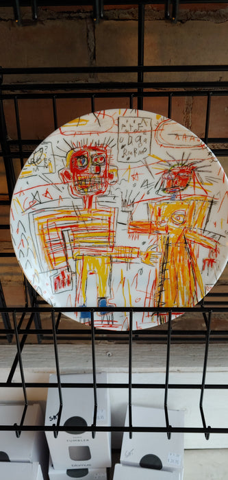 Jean-Michel Basquiat plate self portrait with Suzanne
