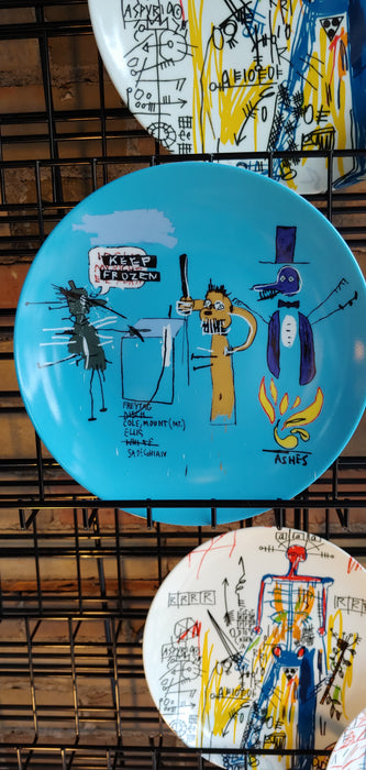 Jean-Michel Basquiat plate The dingoes that park their brain with their gum