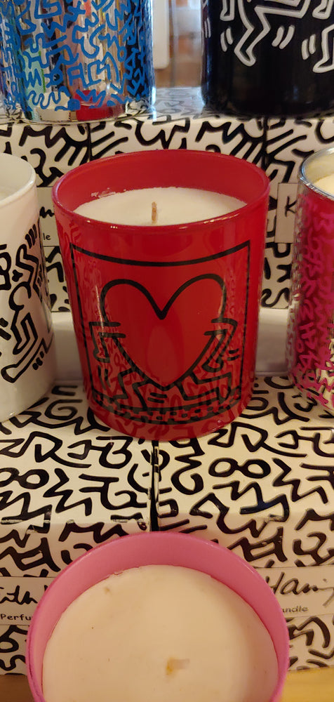 "Keith Haring ""Red Running Heart"" perfumed candle"