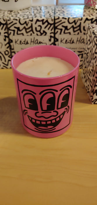 Keith Haring Pink mask scented candle