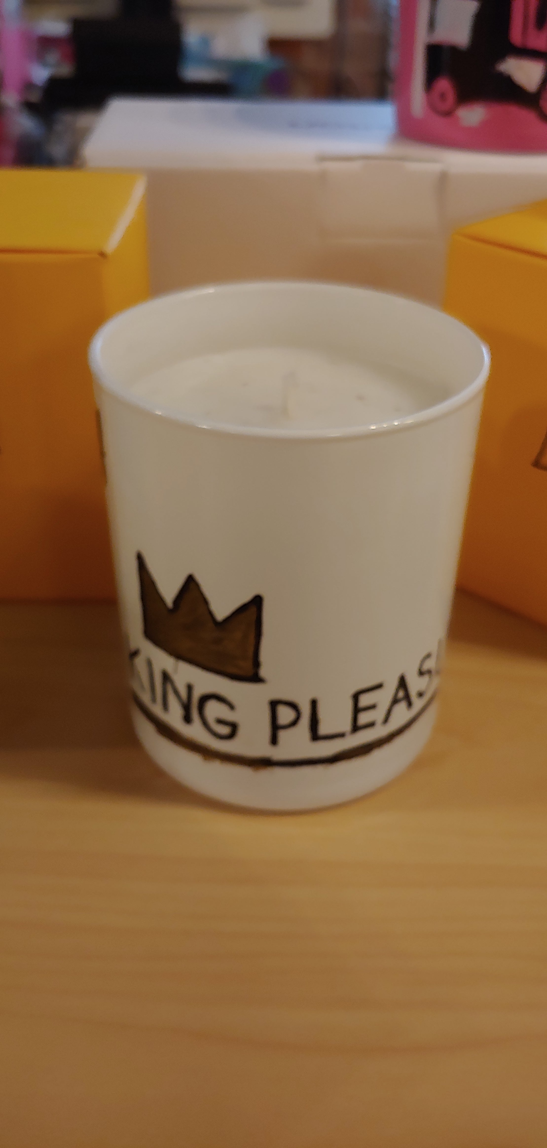 Jean-Michel Basquiat King Pleasure scented candle