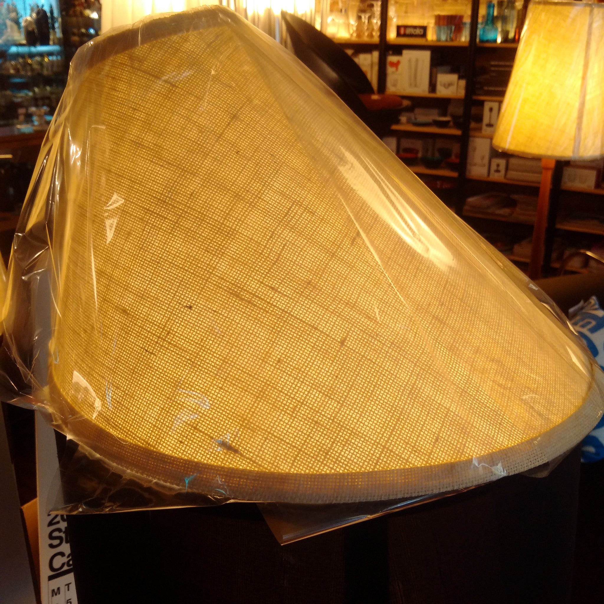 Teak arc lampshade (only shade)