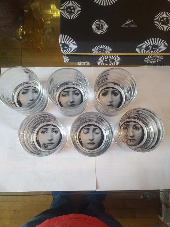Fornasetti drinking glasses Tema e Variazioni (Single glasses)
