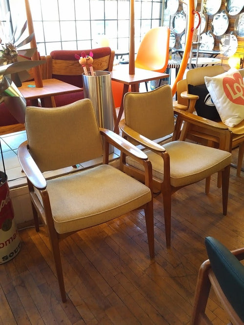 Vintage pair of Sigvard Bernadotte chairs