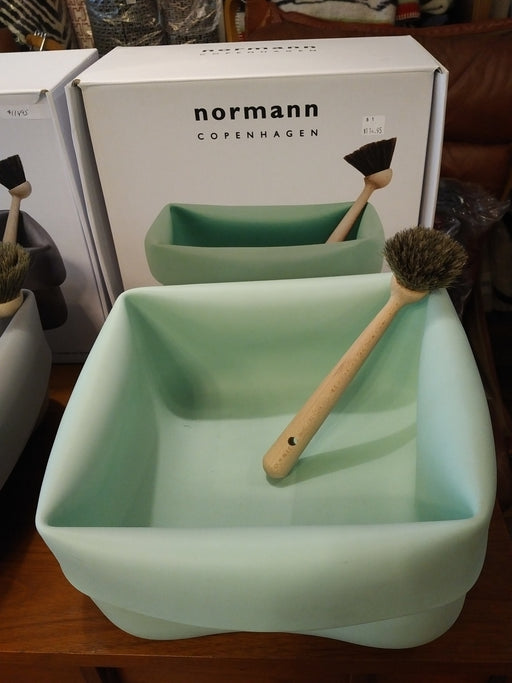 Normann Copenhagen washing - up bowl and brush
