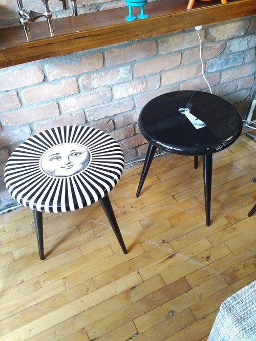 Fornasetti stool /side table serratura nero