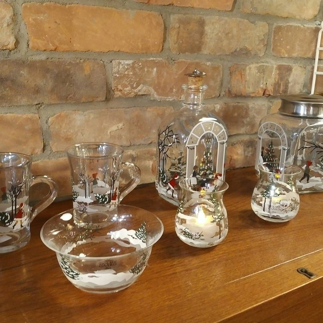 Christmas glass mugs from Holmegaard