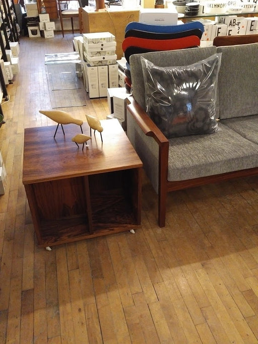 Rosewood end tables coffee table or record storage