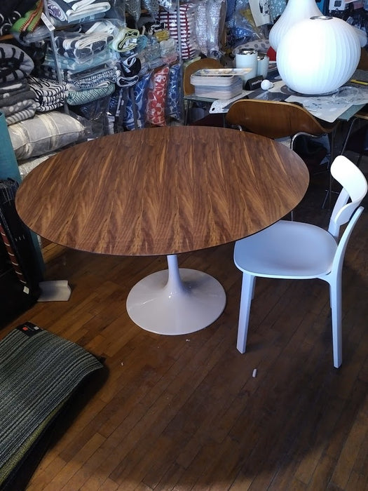 "Tulip Dining table 48"" walnut top"