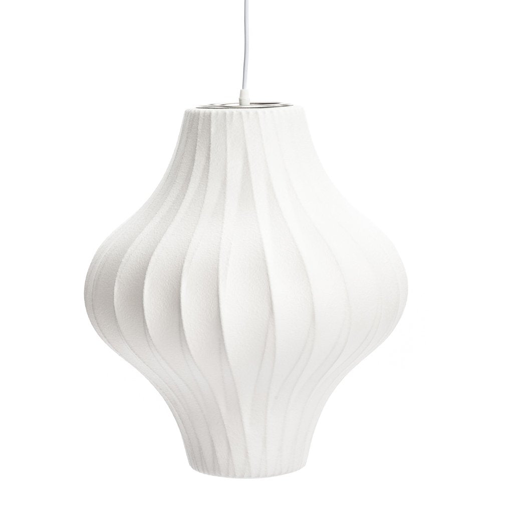 "Cocoon bubble lamp 17"" pear criss cross"
