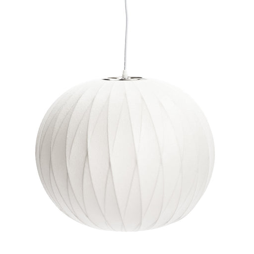 "Cocoon bubble lamp 19"" ball criss cross"