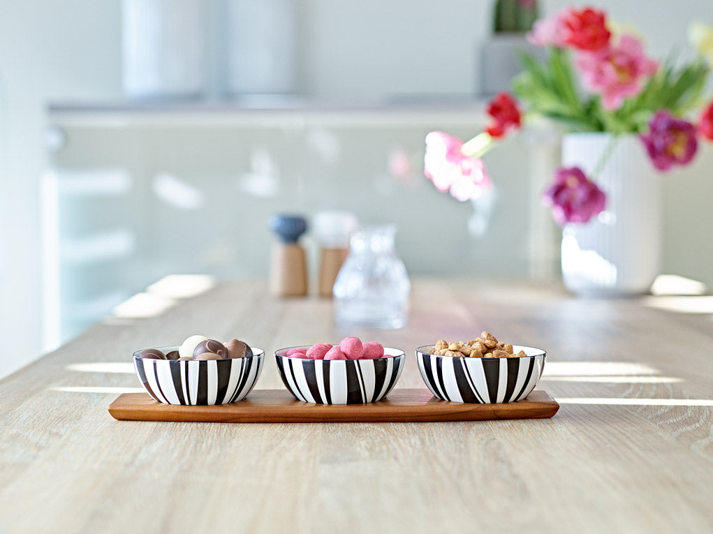 Cathrineholm enamel bowl snack set (3x 10cm bowls and tray)