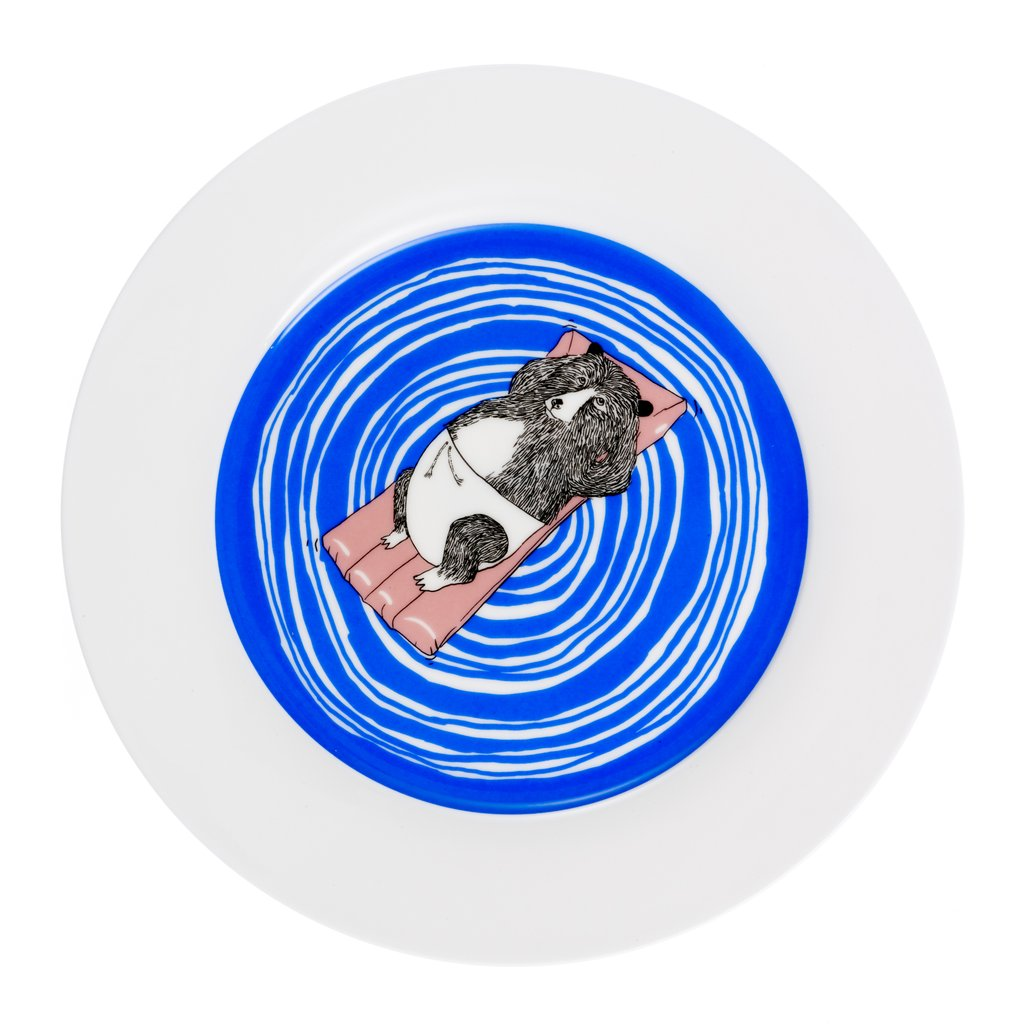 Bear Swims Dinner Plate D25.4cm / 10""