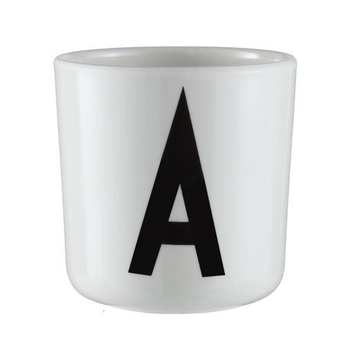 Personal Porcelain cup A-Z (White)