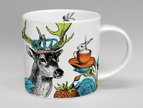 Menagerie Stag Bone China Mug White