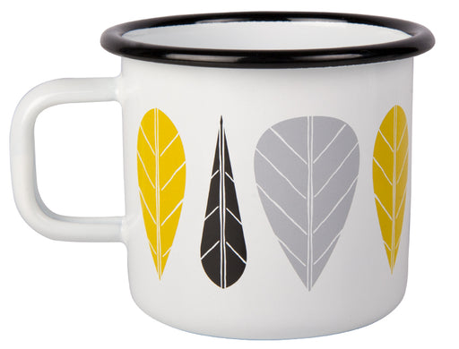 Muurla Leaves Enamel mug 3.7dl