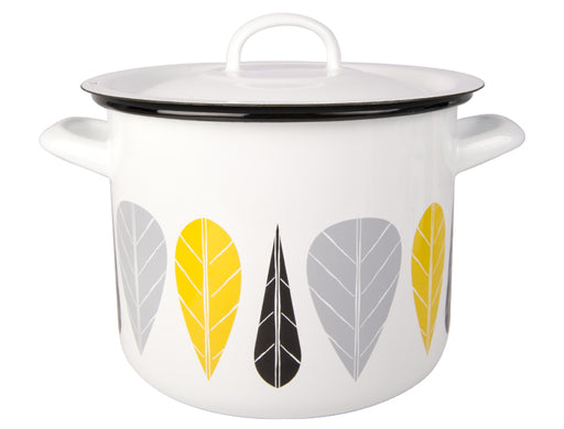Muurla Leaves Enamel pot with lid 3.5l